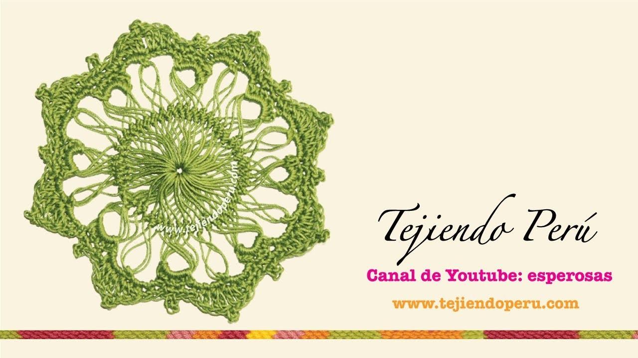 Horquilla (hairpin lace): cómo tejer un motivo circular (# 6)