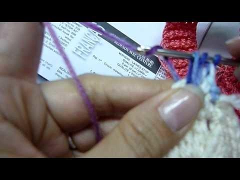 Instrucciones bufanda de florecitas