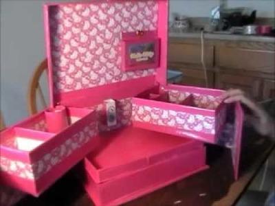 Manualidad: Organizador de cosmeticos Hello Kitty.