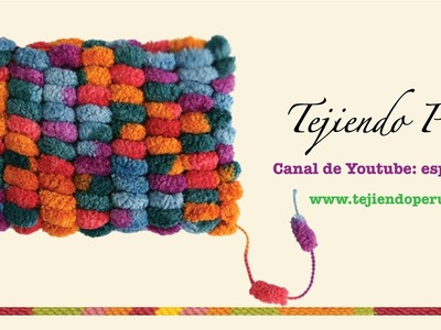 Tejiendo con lana pompom (pom pom wool)