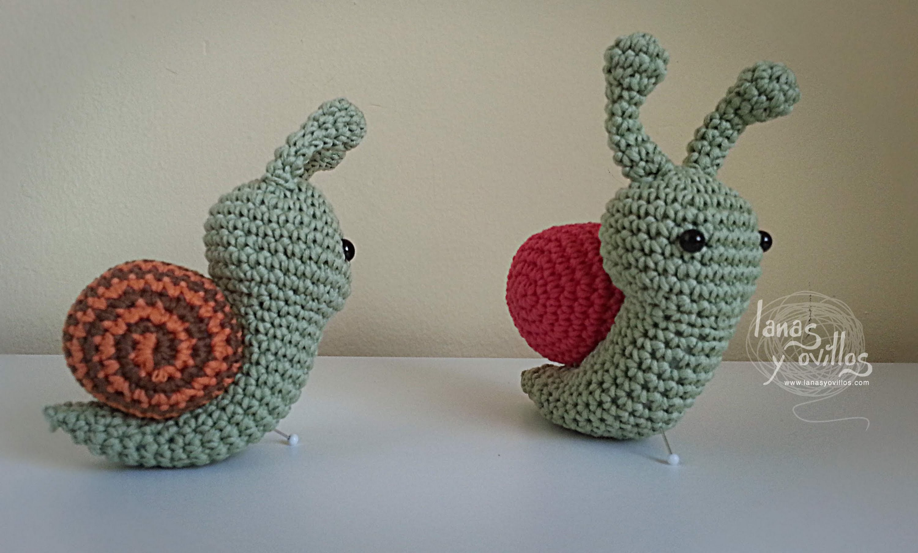 Tutorial Caracol Amigurumi Snail (English Subtitles)
