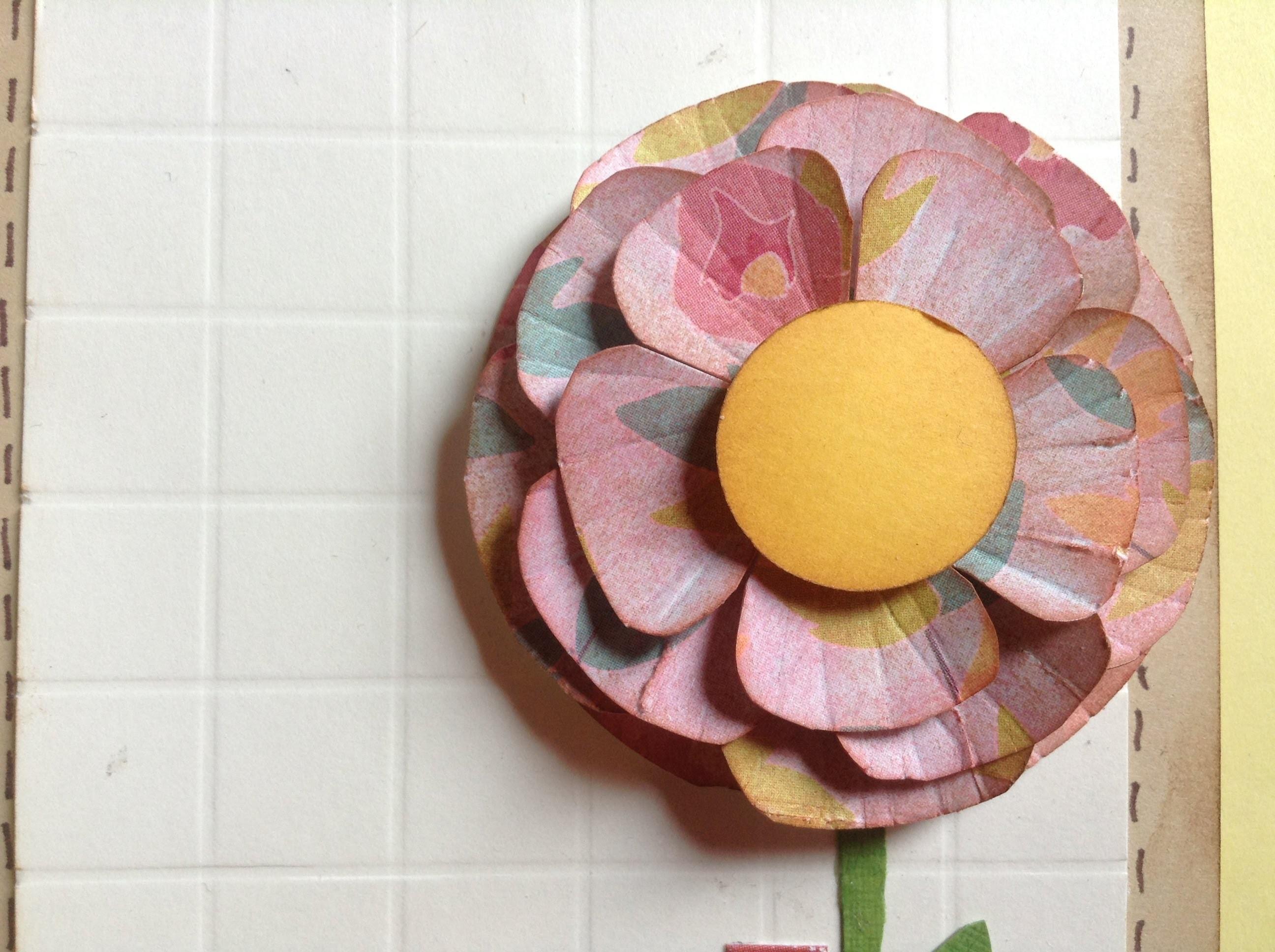 TUTORIAL Flores de papel.paper flowers
