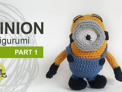 Tutorial Minion Amigurumi Part 1 (English subtitles)