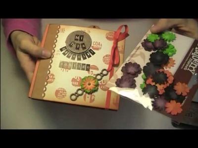 Tutorial Play Scrap: DECORACIÓN Mini álbum 4heures37 (parte3)