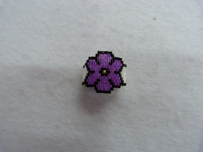 Anillo silueta flor peyote impar