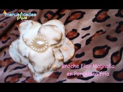 Broche Flor Procelana Fría (fácil) Manualidades con Porcelana fría