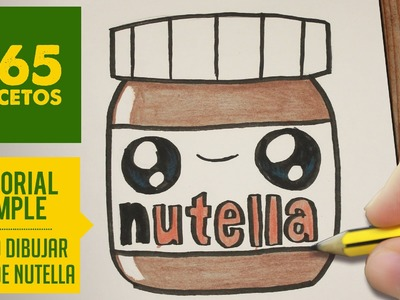 COMO DIBUJAR UN BOTE DE NUTELLA KAWAII PASO A PASO - Dibujos kawaii faciles - How to draw Nutella