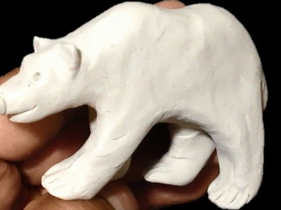 Como hacer un oso polar de plastilina. How to make a polar bear with clay