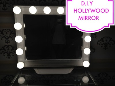 Como hacer un tocador tipo Hollywood-DIY Hollywood-Style mirror
