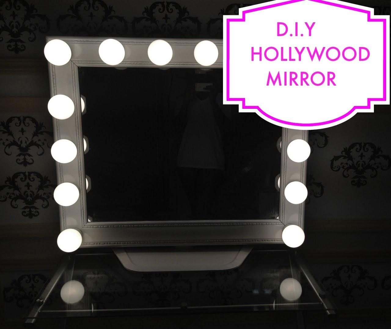 Como hacer un tocador tipo Hollywood-DIY Hollywood-Style mirror