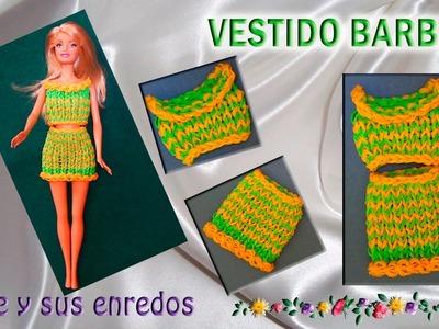 Como hacer un vestido para la muñeca Barbie (1ªparte) con gomitas elásticas