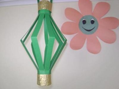 Como hacer una lamparita de papel