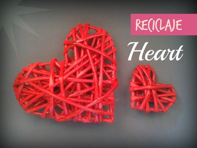 CORAZON DE PAPEL!!! hecho con papel periódico (PAPER HEART made with newspaper) - Ani