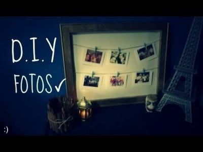 DIY Crea un original marco para tus fotos ;).Portaretratos Express :o