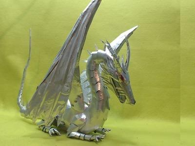 Dragón Hecho con latas de aluminio Tutorial