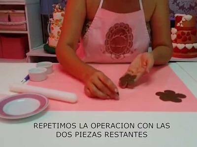 MODELAJE DE ROSA EN CHOCOLATE PLASTICO