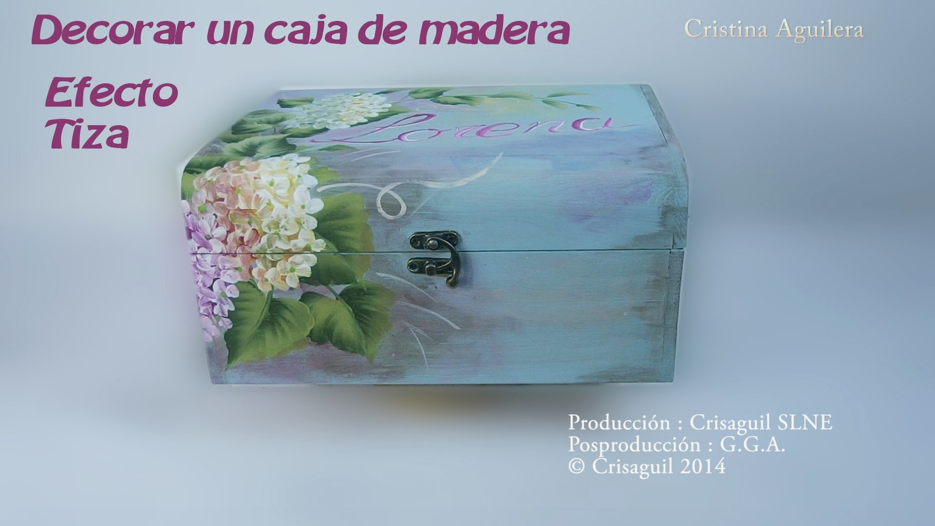 Pintar caja madera con pintura efecto tiza y multicarga .Painted wooden box one stroke