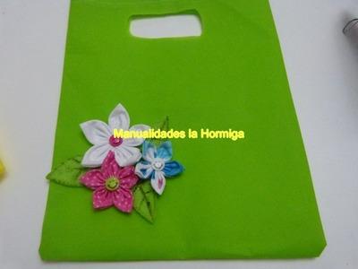 Tutorial bolsas ecologias material Kambrel  para empacar regalos, accesorios No. 349 HormigaManual