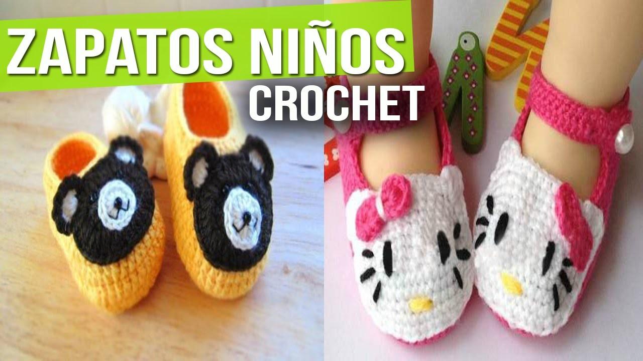 Zapatitos Para Niños y Bebes de Animales - Tejidos a Crochet ( Diseños e Ideas )