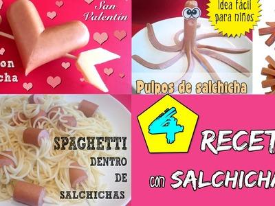 4 recetas muy fáciles con salchichas * RECETAS INFANTILES