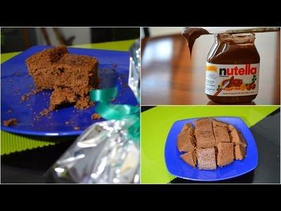 Brownies de nutella sin horno, con sólo 3 ingredientes ♥ -Mariafernandamv