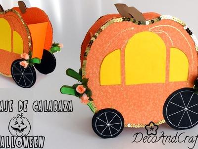 Carruaje de calazaba para halloween  [ Reciclaje ] - DecoAndCrafts