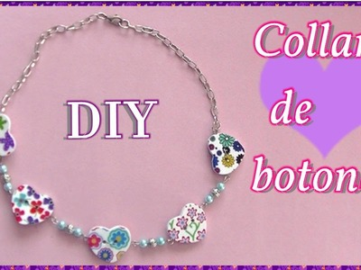 Collar de botones  DIY  Necklace with buttons. Es.pandahall.com