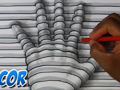 Como Dibujar una Mano en 3D - Facil y rapido