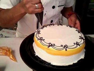Como hacer pasteles decorado con glit amarillo