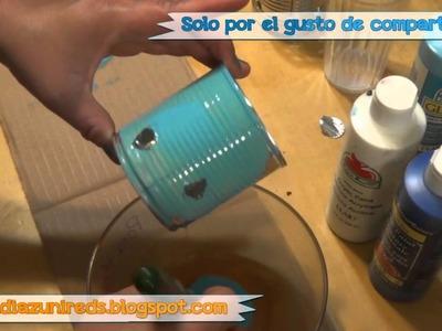 Como hacer PortaVelas (RRR) ☺♥ Reciclando (How To)