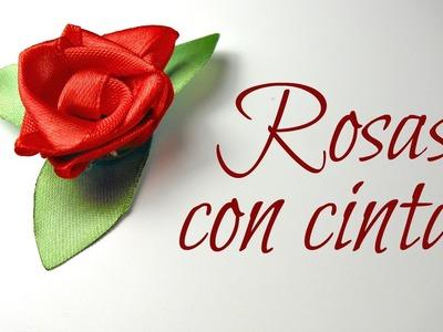 Cómo hacer Rosas con cintas de raso | Flores | Mundo@Party