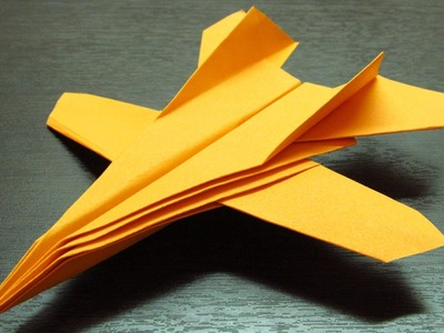 Como hacer un avion de papel F-14 paso a paso en español (Muy fácil)
