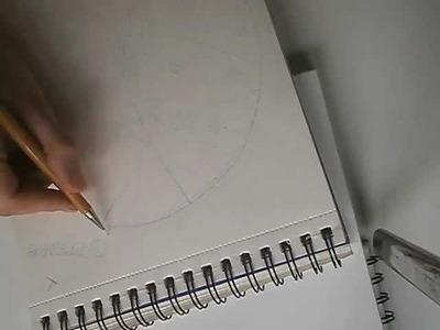 Cómo hacer un mandala: boceto previo a lápiz