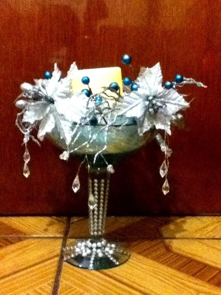DIY Centro de mesa Navideño elegante Decoracion centerpiece arrangement