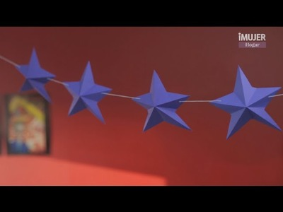 Guirnalda de estrellas en 3D | DECORACIÓN PARA FIESTAS | @iMujerHogar