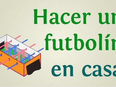 Juegos de fútbol caseros: cómo hacer un futbolín o metegol de madera y cartón   INNATIA.COM