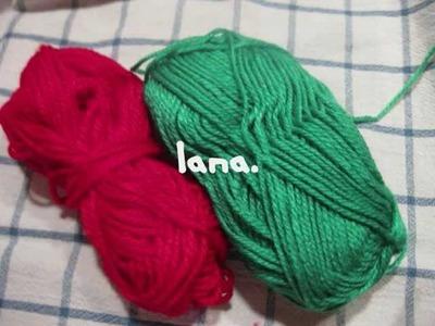 Manualidades navideñas-pompones de lana (para el arbol de navidad)manualidad facil