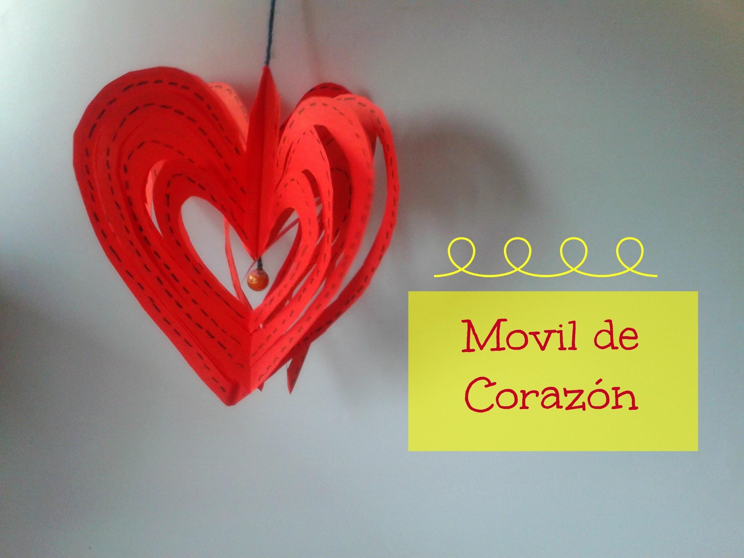 Movil de Corazones - Manualidades para San Valentín | Ani Crafts