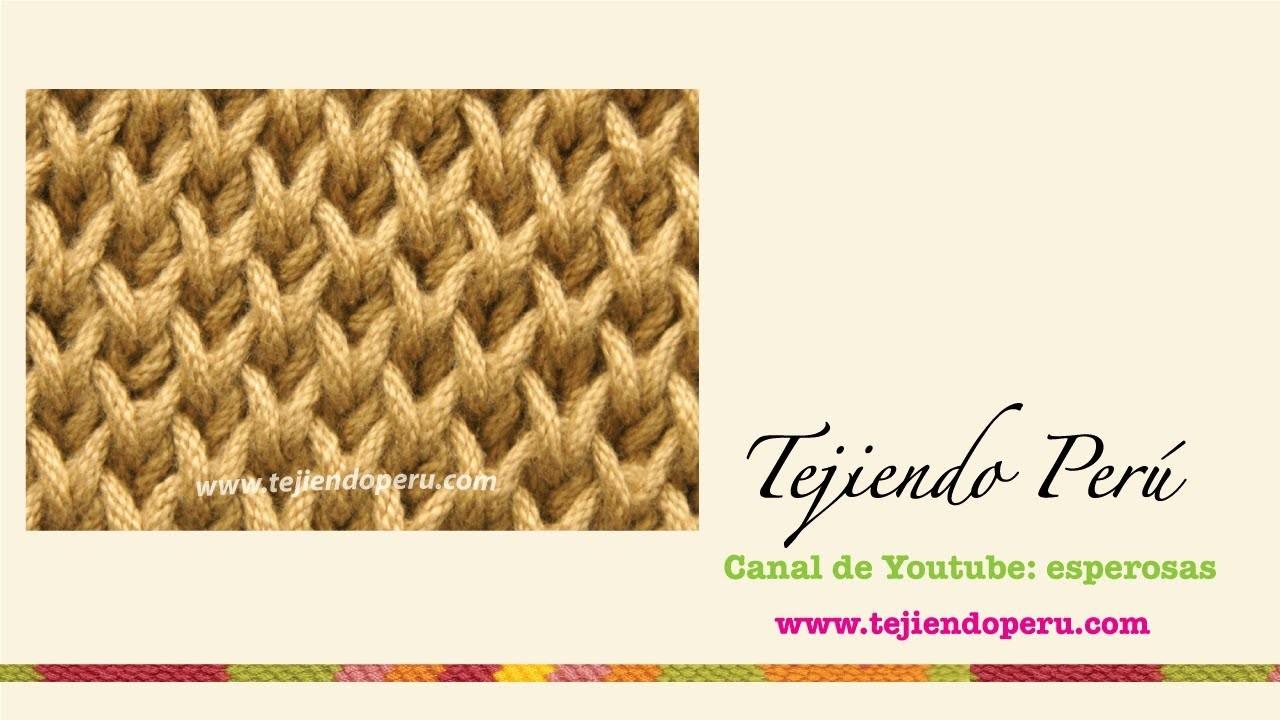 Punto brioche doble tejido en dos agujas (double brioche stitch): cerrando los puntos