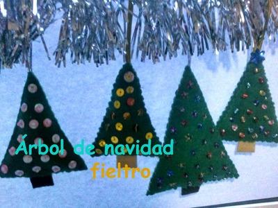 Arbol de navidad fieltro|| Manualidades navidad
