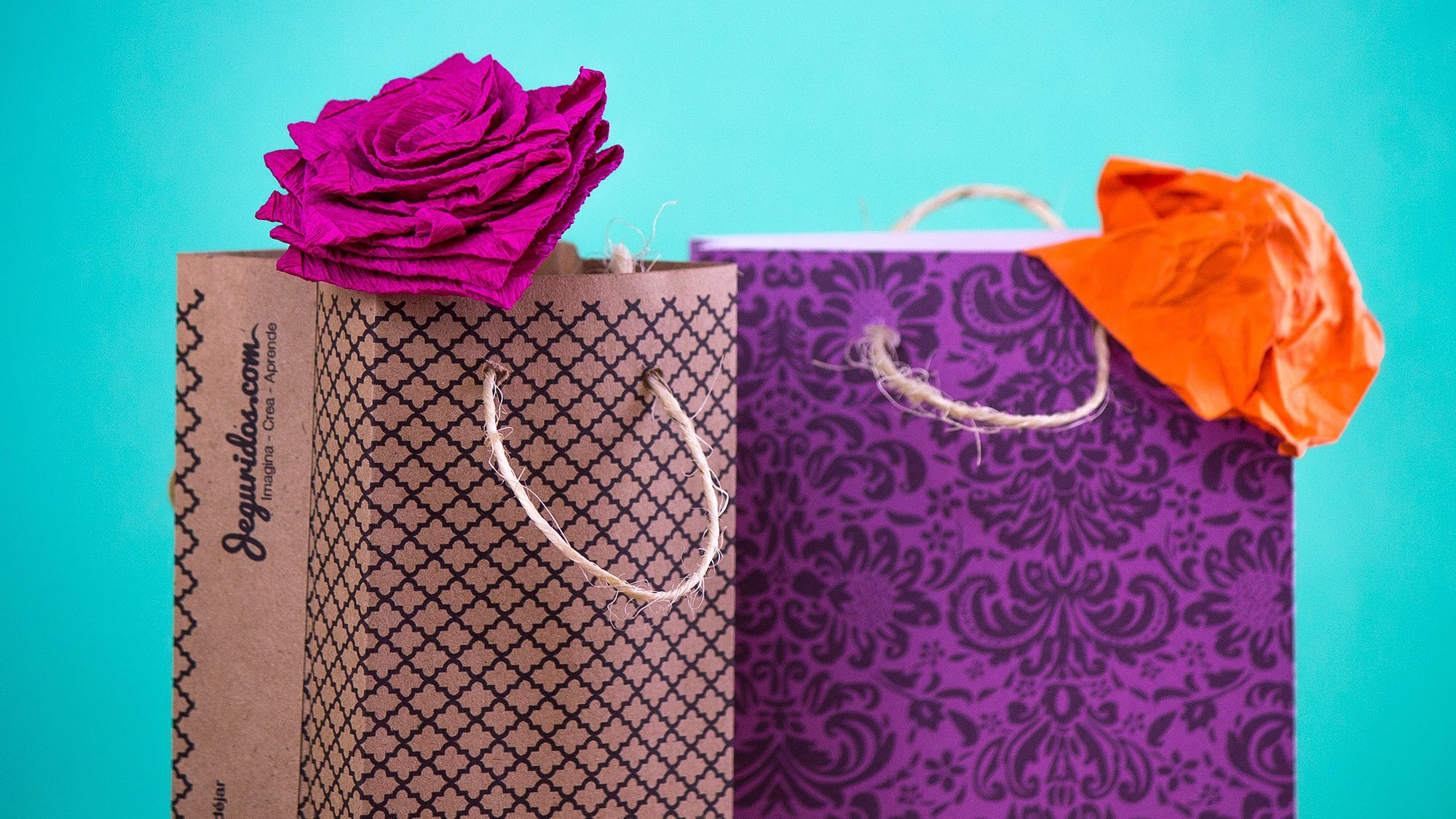 Bolsitas de papel para regalo Fácil. gift Box