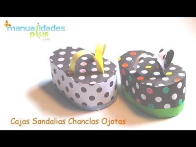 Cajas Sandalias Ojotas Chanclas Patron Gratis Manualidades con cartulina