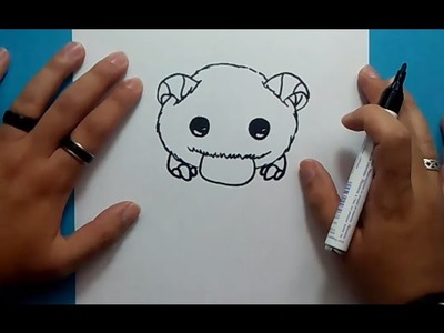 Como dibujar a Poro paso a paso - League of Legends | How to draw Poro - League of Legends