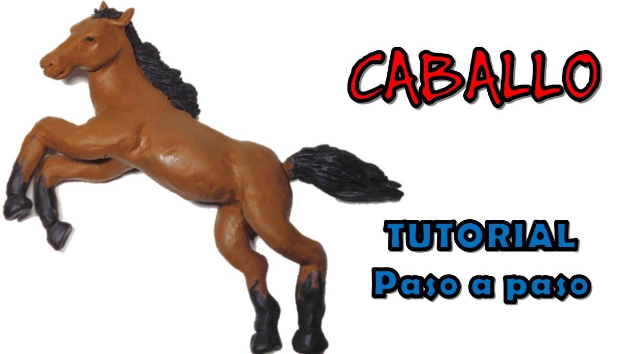 Como hacer un caballo de plastilina. How to make a horse with clay