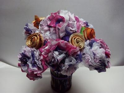 Como hacer un ramo de flores con servilletas
