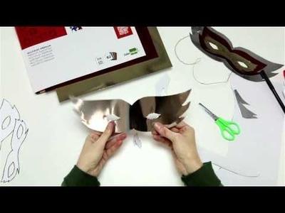 Diseña tu máscara de Carnaval con cartulina metalizada