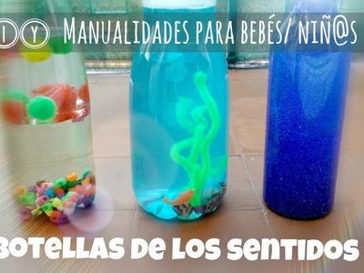 DIY ✿ Botellas sensoriales | sensory bottles. Manualidades para bebés o niñ@s pequeños
