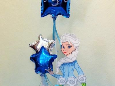 DIY Centro de mesa FROZEN Elsa globo foamy Elza centerpiece FROZEN
