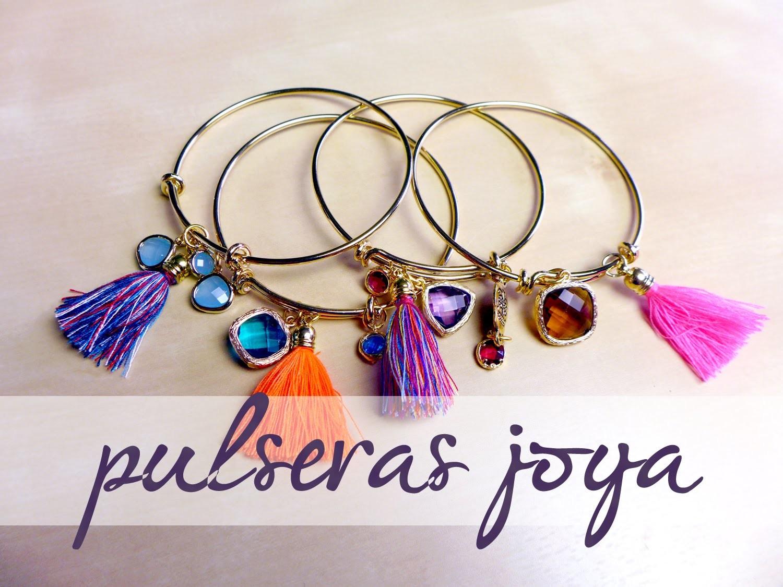 DIY Cómo hacer Pulseras Joya 2 | DIY Rhinestone Cord Bracelet 2