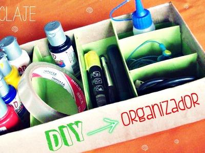 Diy ➢Como hacer un organizador para escritorio.Fácil